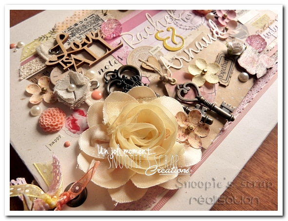 livre d'or Rachel & Arnaud - Snoopie's scrap creation (2)