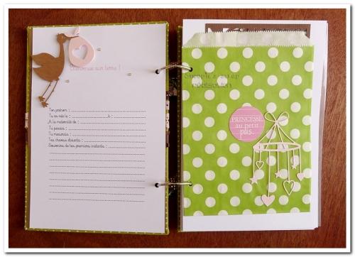 livre naissance victoire - vert, rose et marron - fôret enchantée (11)