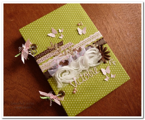 livre naissance victoire - vert, rose et marron - fôret enchantée (3)