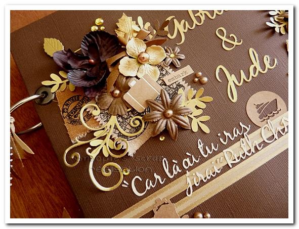 livre d'or Gabriella & Jude - 05.09.2015 - marron & or - voyage (3)