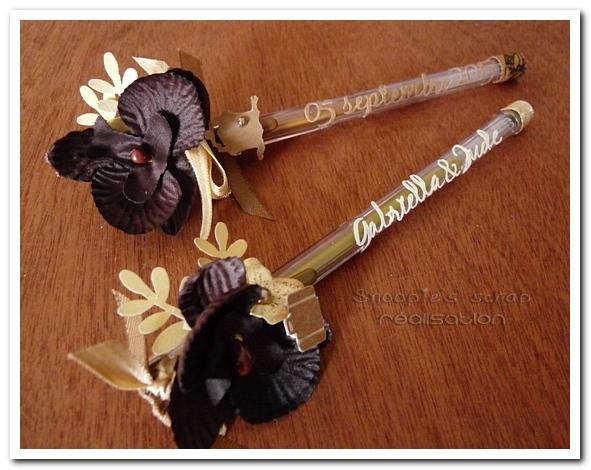stylos mariage G & J - snoopiescrap creation (1)