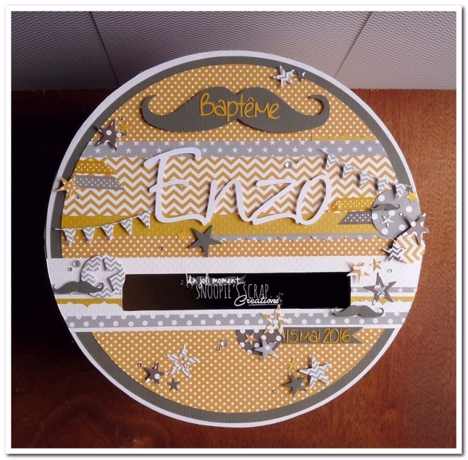 tirelire urne Baptême Enzo - snoopiescrap (1)