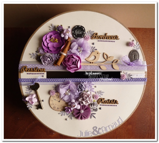 Urne tirelire mariage J & A - snoopiescrap creations (1)