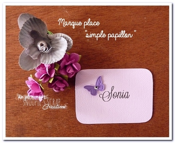 marque place simple papillon snoopiescrap
