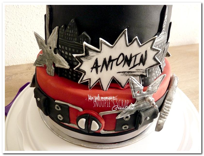 4255ab16acc06 Antonin – gâteau thème Deadpool
